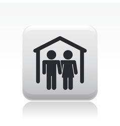 couple home icon vector image