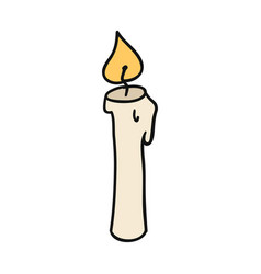 doodle cartoon candle sign and symbol hand-drawn vector image