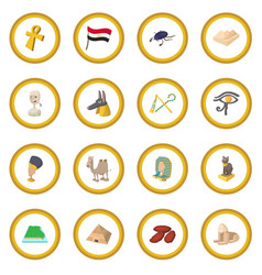 egypt icon circle vector image