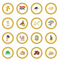 egypt icon circle vector image vector image