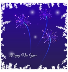Festive New Year card vector image