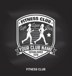 Fitness club badge vector
