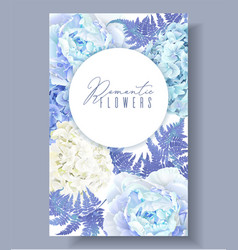 Floral blue vertical banner vector