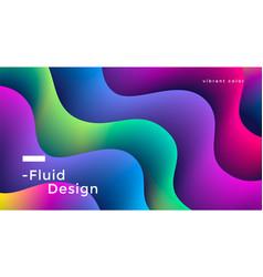 fluid wide poster vector image