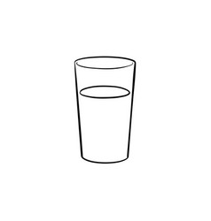 glass of water hand drawn sketch icon vector image