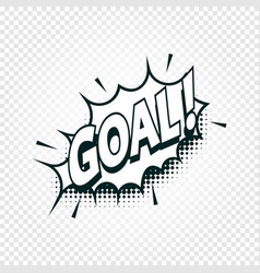 goal icon comics cloud with halftone shadow goal vector image