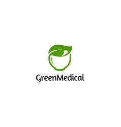 green medical logo design concept vector image