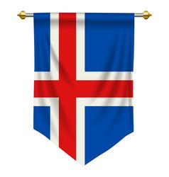 Iceland pennant vector
