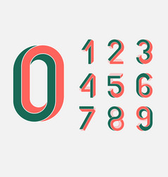 impossible geometry numbers vector image