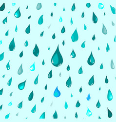 isolated rain drops or steam showerwater falling vector image