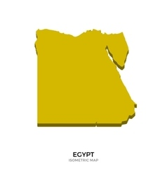 Isometric map of Egypt detailed vector