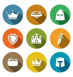Kingdom Icons Set vector image