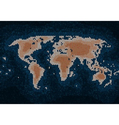 Knitted world map vector image