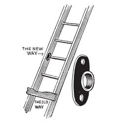 Ladder repair plate vintage vector