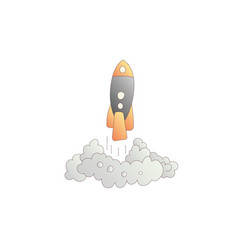 launching rockets cartoon vector image