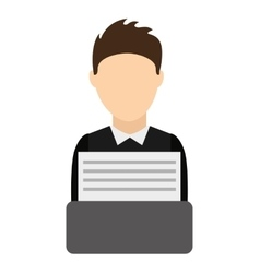 Lawyer avatar isolated icon vector