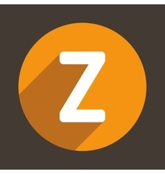 Letter Z Logo Flat Icon Style vector