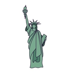 liberty statue isolated icon design vector image