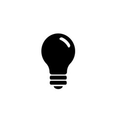 light bulb electric lamp flat icon vector image