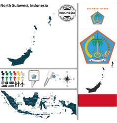 Map of North Sulawesi vector image