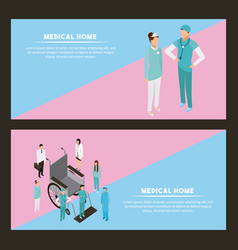 medical peope health vector image