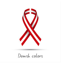 Modern colored ribbon with the danish colors vector