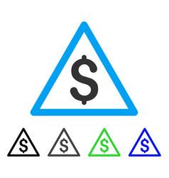 Money warning flat icon vector