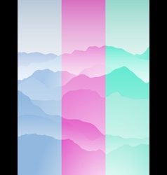 Mountain range portrait vector