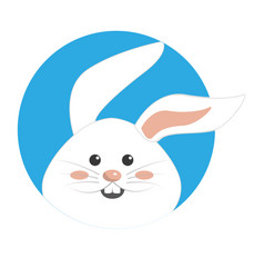 Nice happy rabbit cartoon design vector