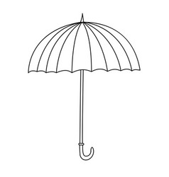 Outline cute cartoon umbrella vector