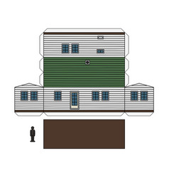 Paper model of amobilhome vector