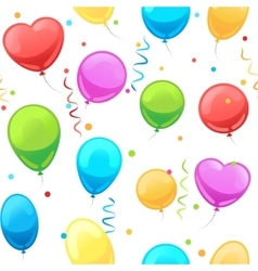 Party baloon seamless pattern vector image
