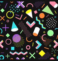 Pattern in the 90s style vector