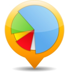 pie chart icon vector image