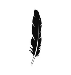 Plumage feather icon simple style vector