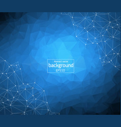 Polygonal background low poly mesh design with vector