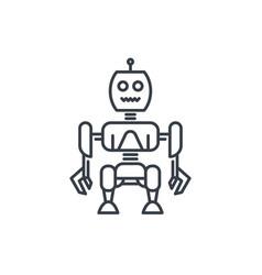 robotics robot linear style vector image