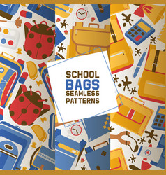 school seamless pattern kids education vector image