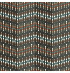 Seamless circle zigzag pattern vector image