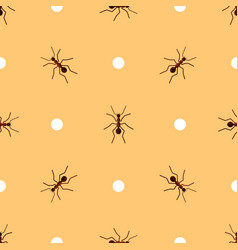 seamless pattern with ants and circles vector image