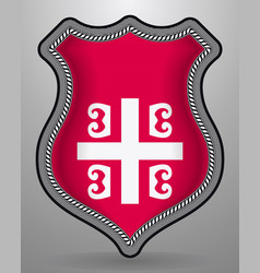 Serbian cross national symbol of serbia badge vector
