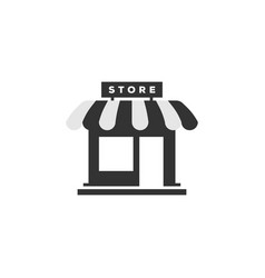 Store front icon graphic design template vector
