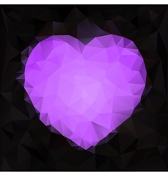 Stylized heart shape made of triangles vector image