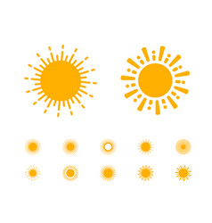 sun collection on white background vector image vector image