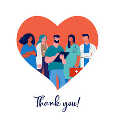 thank you doctors and nurses concept design vector image