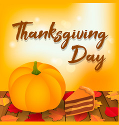 thanksgiving day concept background isometric vector image