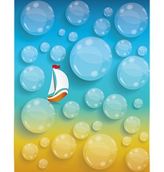 Transparent water drops background tourism and vector image