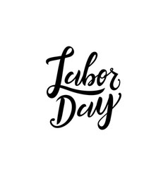 united states labor day celebrate card template vector image
