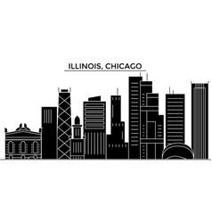 Usa illinois chicago architecture city vector