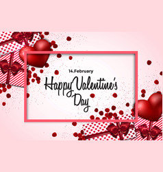 valentines day card - 2018 vector image